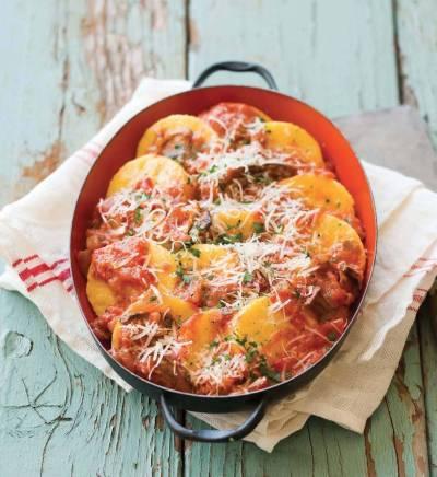 Polenta Gnocchi in Tomato Sauce Recipe | Epicurious.com