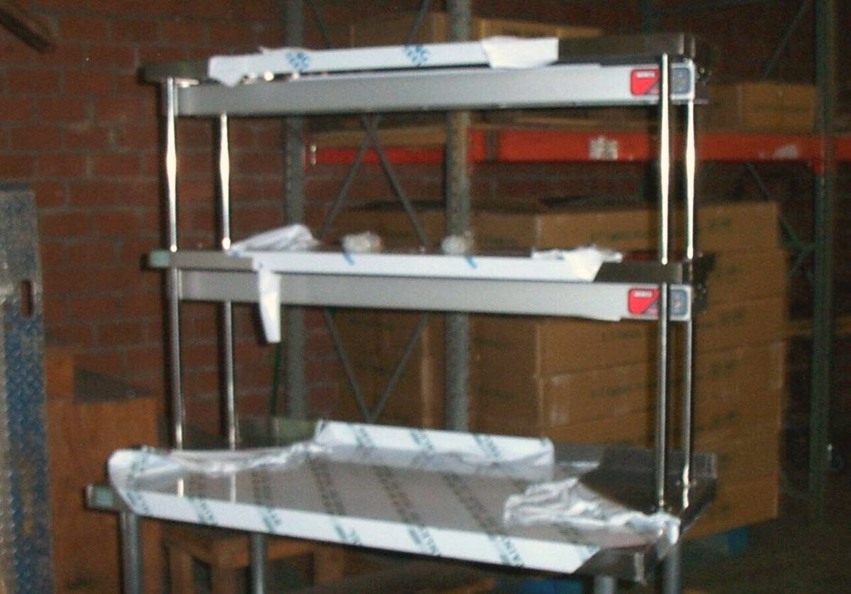 Worktable kitchen prep tables commercial overshelf