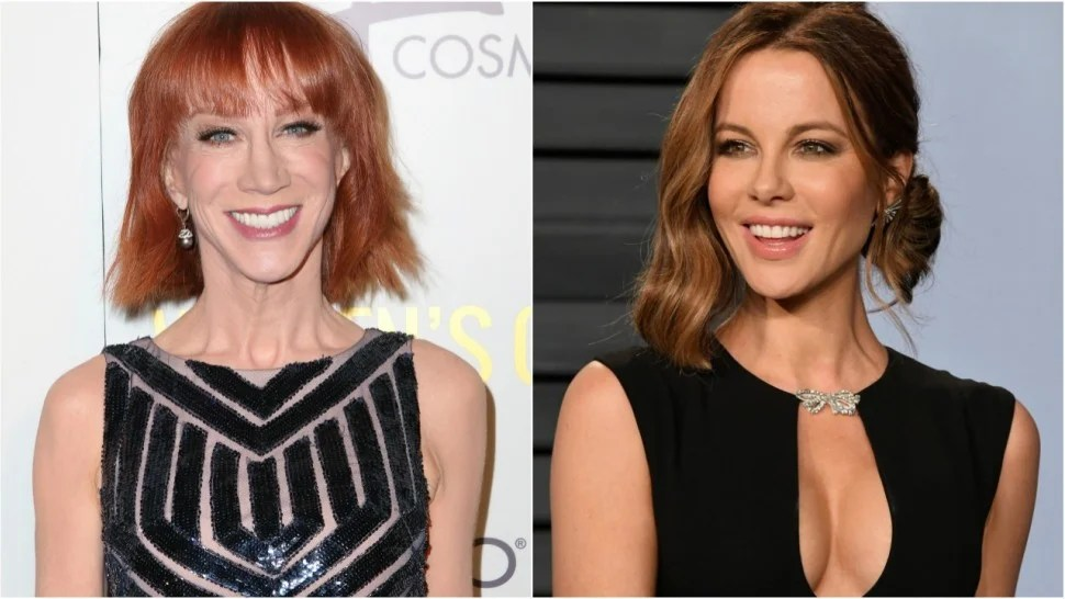 Kathy Griffin Hilariously Challenges Kate Beckinsale to a Bikini     1280 kathy griffin kate beckinsale jpg  Getty Images  Kathy Griffin