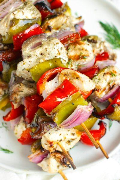 Grilled Greek Chicken Shish Kabobs Recipe | Keto + Whole 30