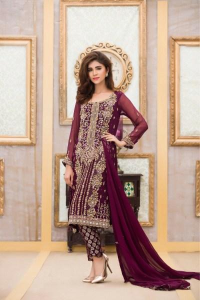Exclusive Boutique Bridal Dress in Purple Design ...