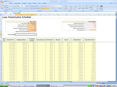 Using Excel's built-in amortization table | Experiments in Finance