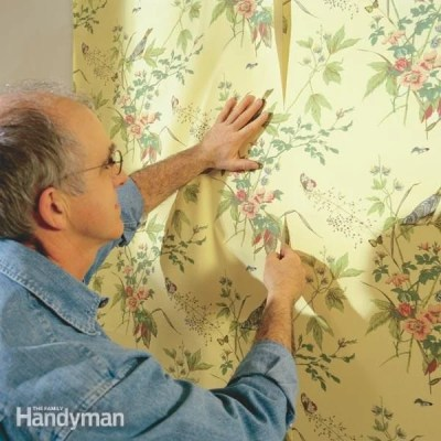 How To Hang Prepasted Wallpaper | The Family Handyman