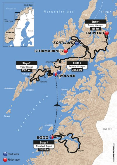 CyclingQuotes.com Route published for inaugural Arctic ...