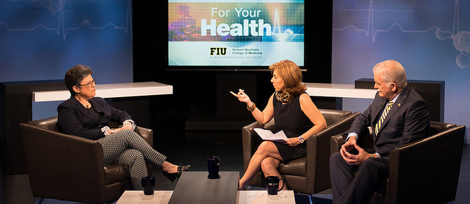 FIU HWCOM s local television show  For Your Health     Alumni News FIU HWCOM s local television show  For Your Health