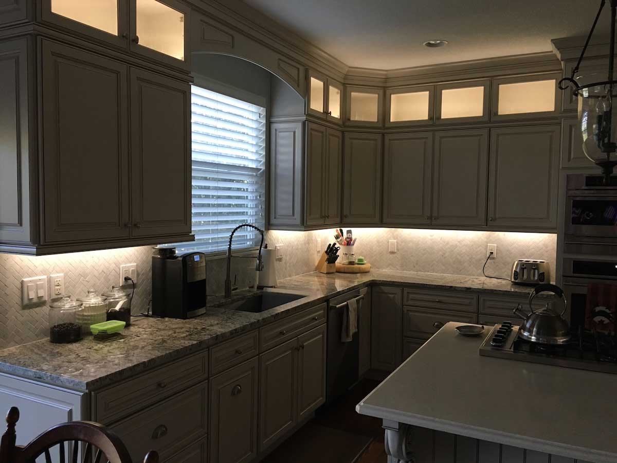 residential projects kitchen cabinet lighting Modern kitchen cabinet lighting flexfireleds