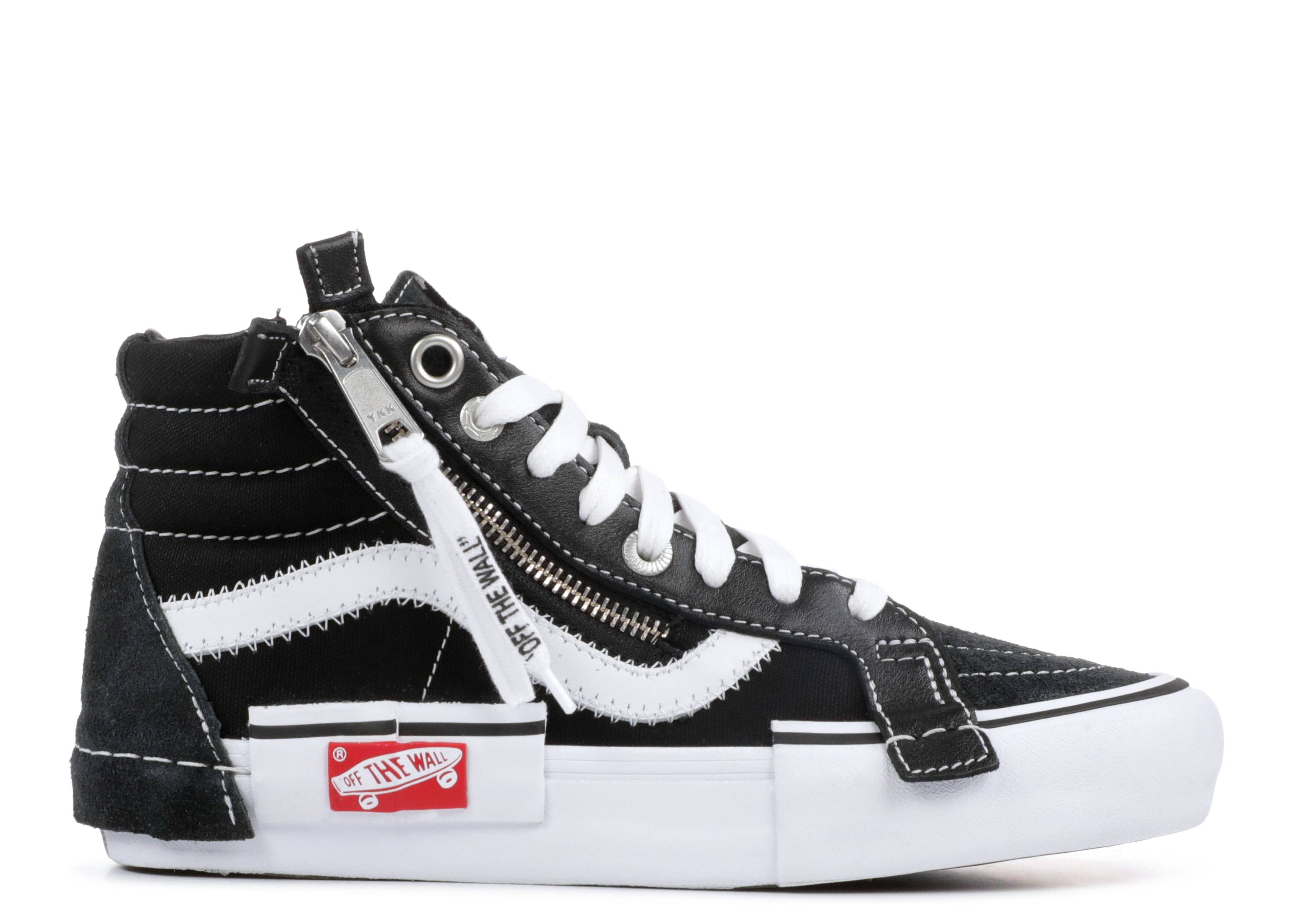 Sk8 hi Cap Lx Bla  inside Out    Vans   vn0a3tkm6bt   black white     vans  sk8 hi cap lx bla  inside out