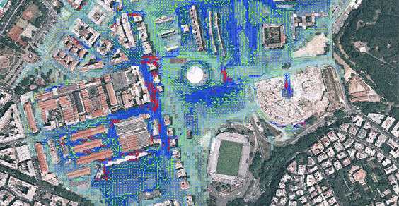 FLO 2D PRO is the 2D hydraulic modelling software used for the flood     FLO 2D PRO is the 2D hydraulic modelling software used for the flood map  updating project for the Tiber river within the city of Rome  03 2016