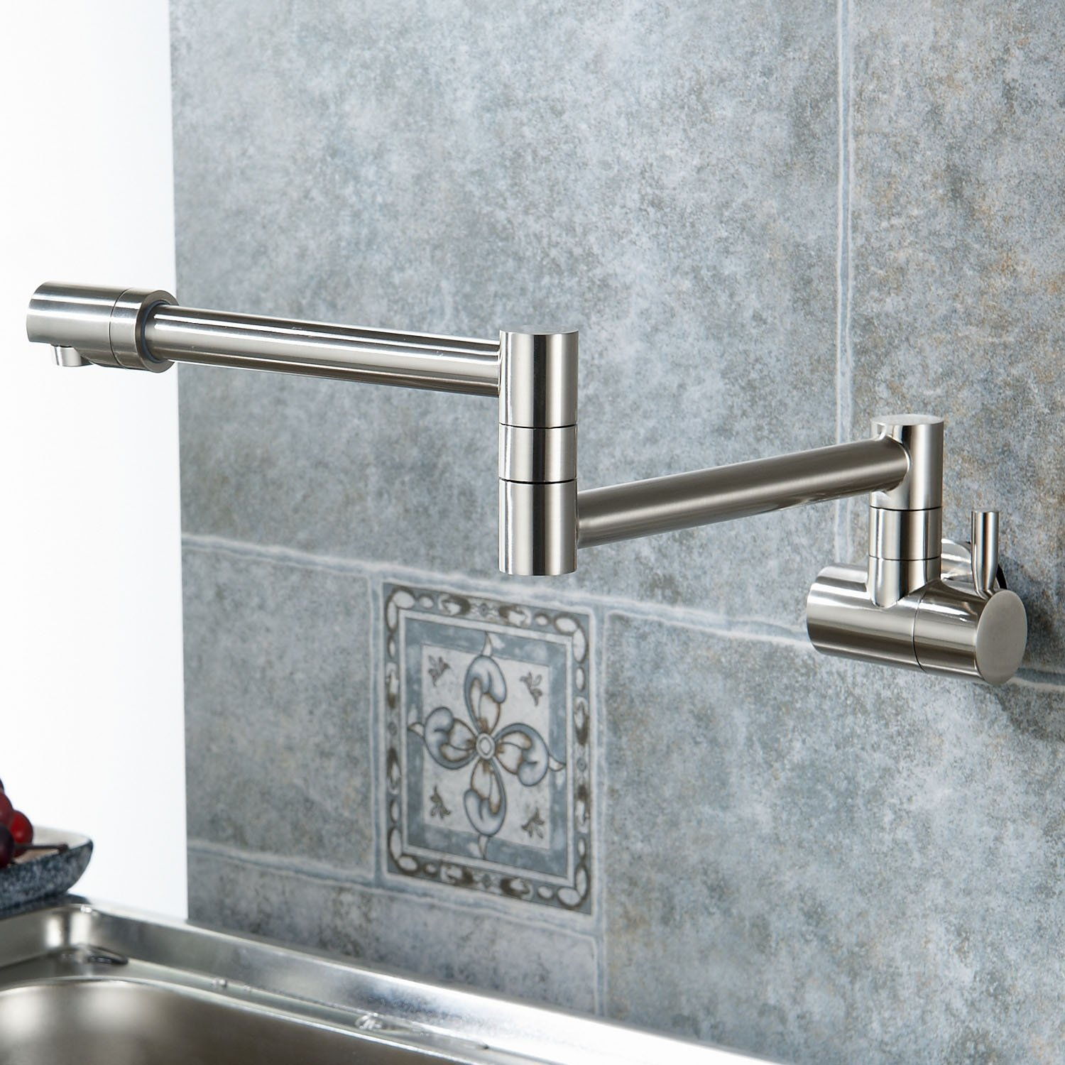 fsamr kitchen sink faucet Annaba Wall Mounted Double Joint Kitchen Sink Faucet