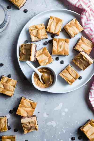 No Bake Peanut Butter Cheesecake Bars (Dairy Free) - Food ...