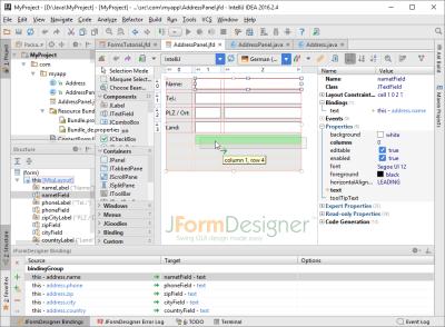 FormDev - JFormDesigner - Java/Swing GUI Designer