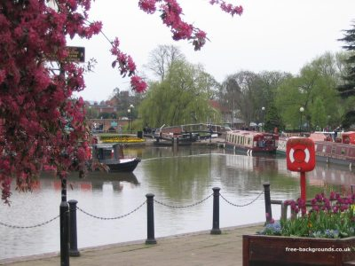 Canal boats in Stratford-Upon-Avon - Free Backgrounds