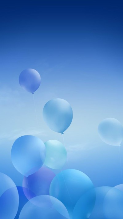 Blue Balloons iPhone 6 / 6 Plus and iPhone 5/4 Wallpapers