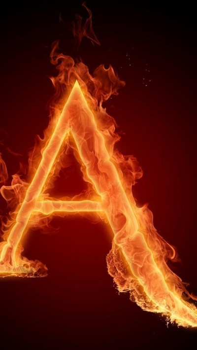 Burning Letter A iPhone 6 / 6 Plus and iPhone 5/4 Wallpapers