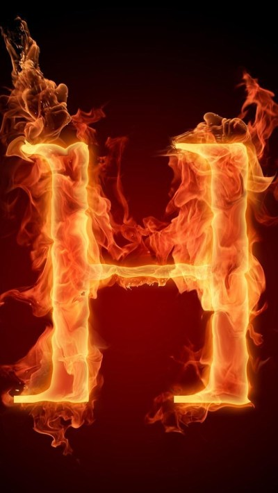 Burning Letter H iPhone 6 / 6 Plus and iPhone 5/4 Wallpapers