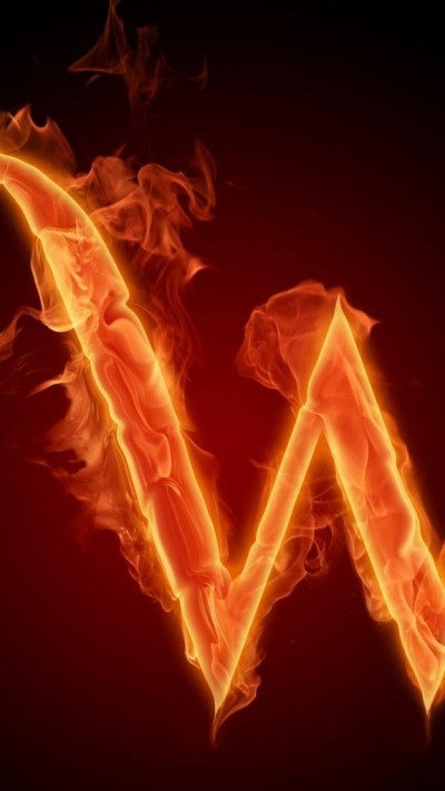 Burning Letter W Wallpaper - Free iPhone Wallpapers