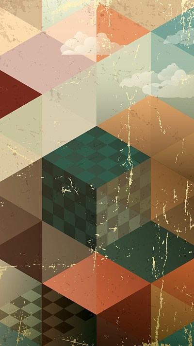 Vintage Abstract Geometries Wallpaper - Free iPhone Wallpapers