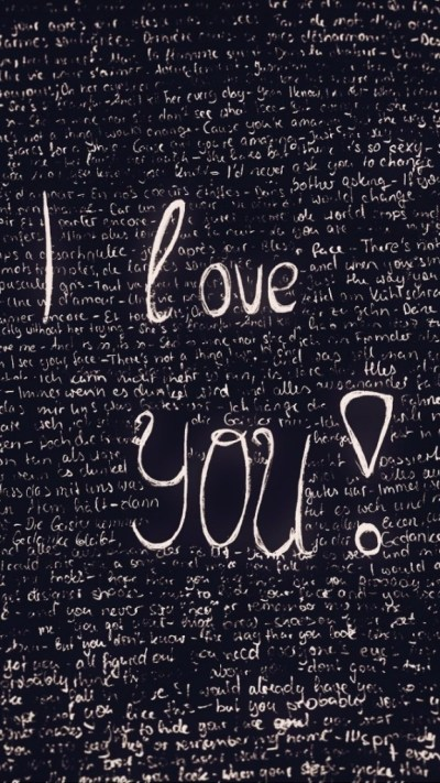 I Love You Doodle Wallpaper - Free iPhone Wallpapers