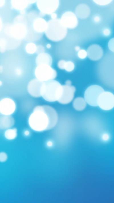 Bright Blue Bokeh Wallpaper - Free iPhone Wallpapers