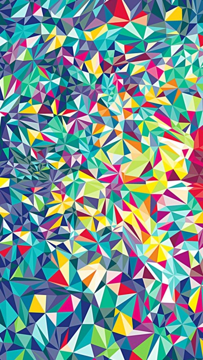 Colorful Kaleidoscope Pattern Wallpaper - Free iPhone Wallpapers