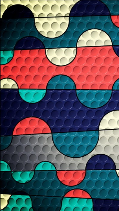 Colorful Puzzles with Holes Wallpaper - Free iPhone Wallpapers