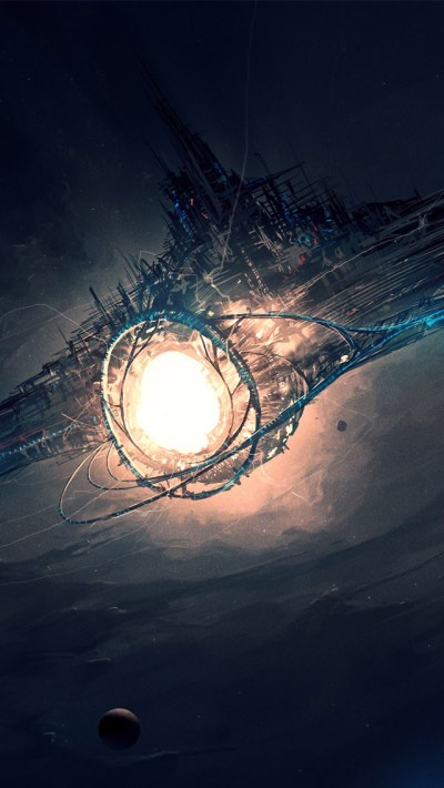 Science Fiction Spaceship Wallpaper - Free iPhone Wallpapers