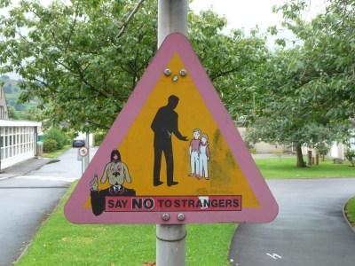 stranger danger sign | Free Range Kids
