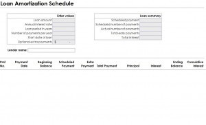 Excel Loan Amortization Template Download - 4 printable amortization schedule templates excel ...