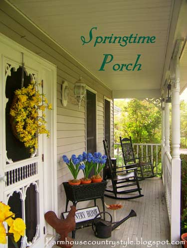 Country Farmhouse   Country Porch Decorating Ideas   Front Porch     Country Farmhouse Front Porch With Rocking Chairs