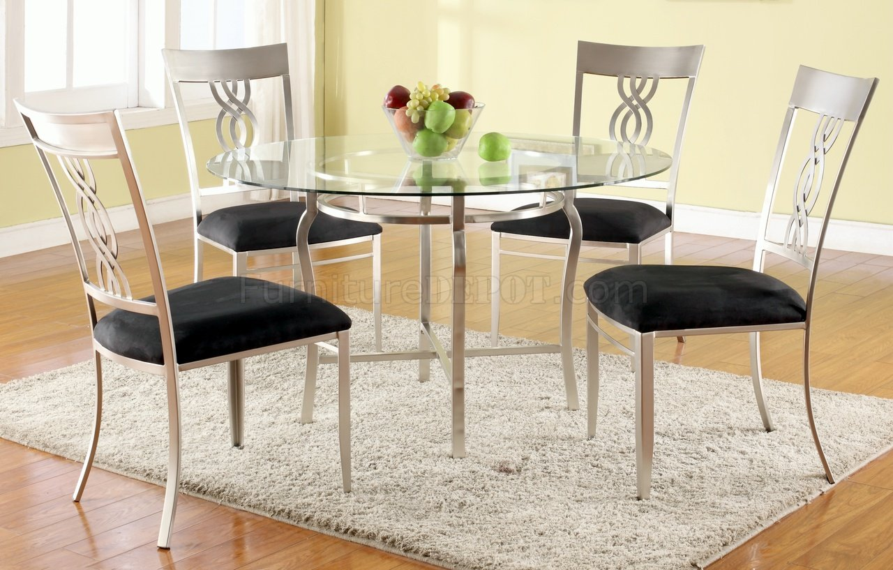 round glass 5pc dining setwpedestal base p glass kitchen table