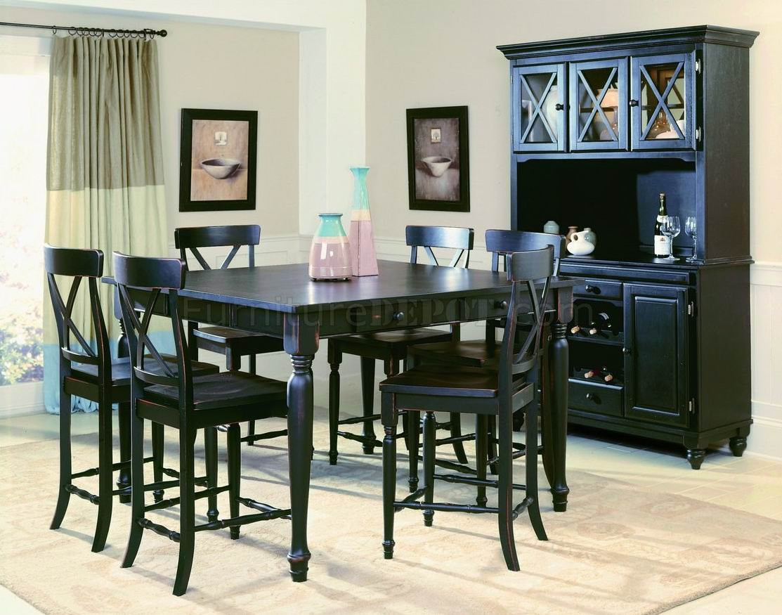 black finish modern counter height dining table woptional items p bar height kitchen table