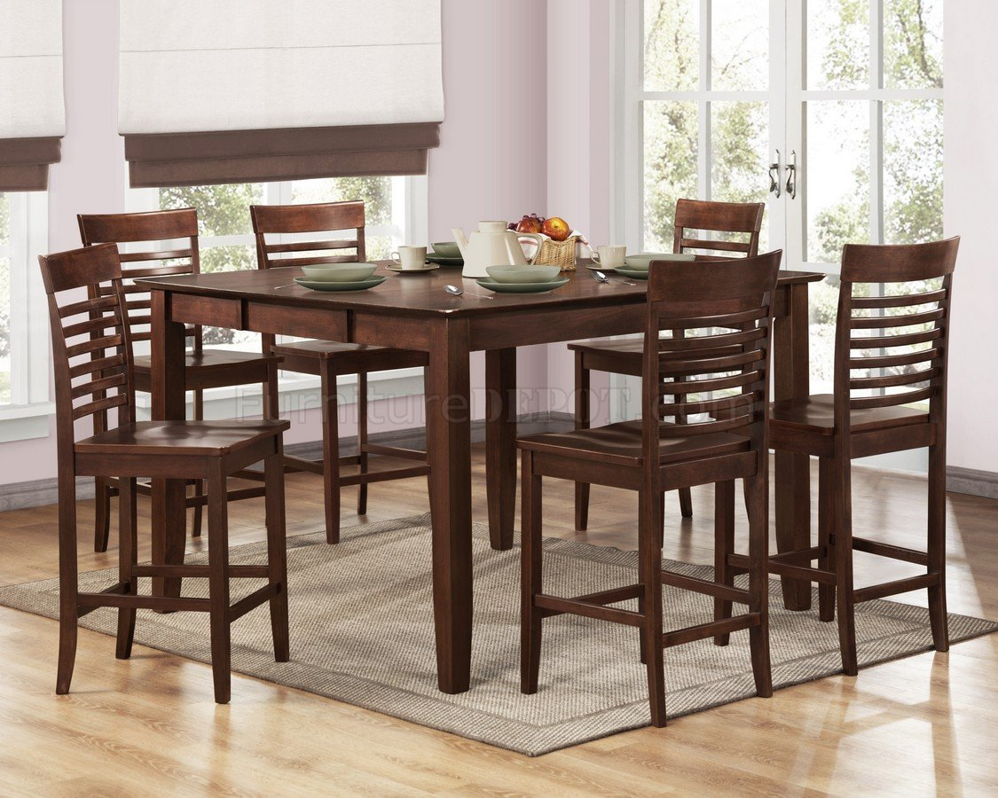 brown espresso modern counter height dining table woptions p kitchen counter table