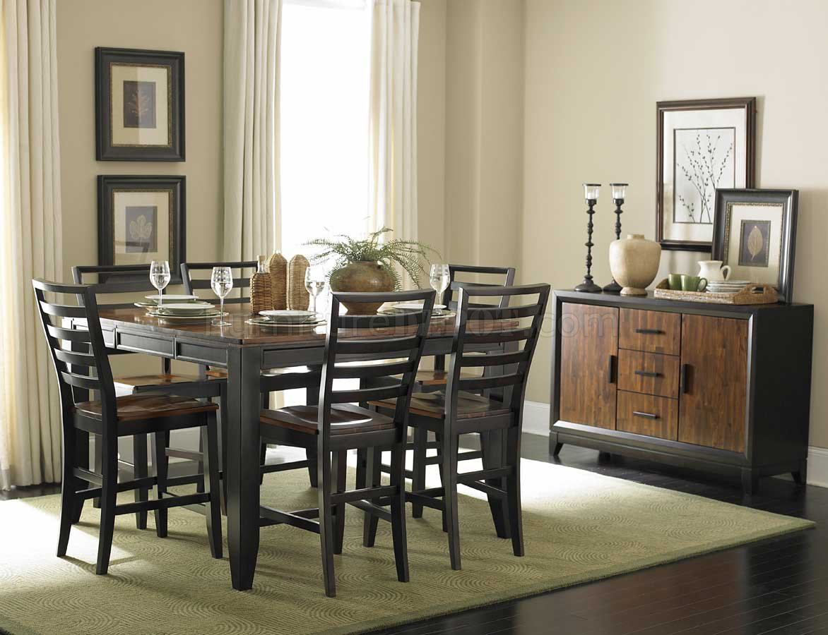 twotone finish modern counter height dining table woptions p two tone kitchen table