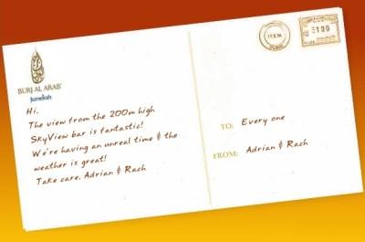 Burj Al Arab - Post Card