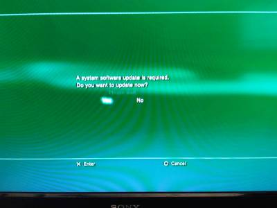 PS3 owner receives firmware update notification while PSN is down