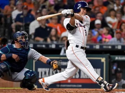 Gattis homers twice to lead Astros over Mariners, 6-2