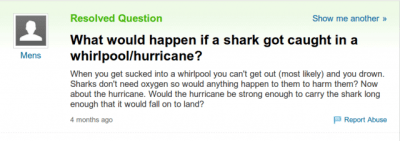 Did Yahoo! Answers Predict the Coming of Sharknado? | The Mary Sue