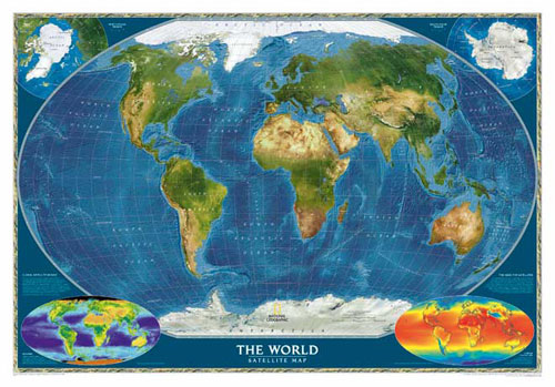 World map  Satellite View  or Map of World or Map of the World Type  ground vegetation  World map  Satellite View