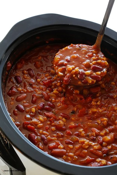 Slow Cooker Vegetarian Chili | Gimme Some Oven