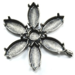 Flower Pendant Base With 29ss and Navette 15 7mm Settings