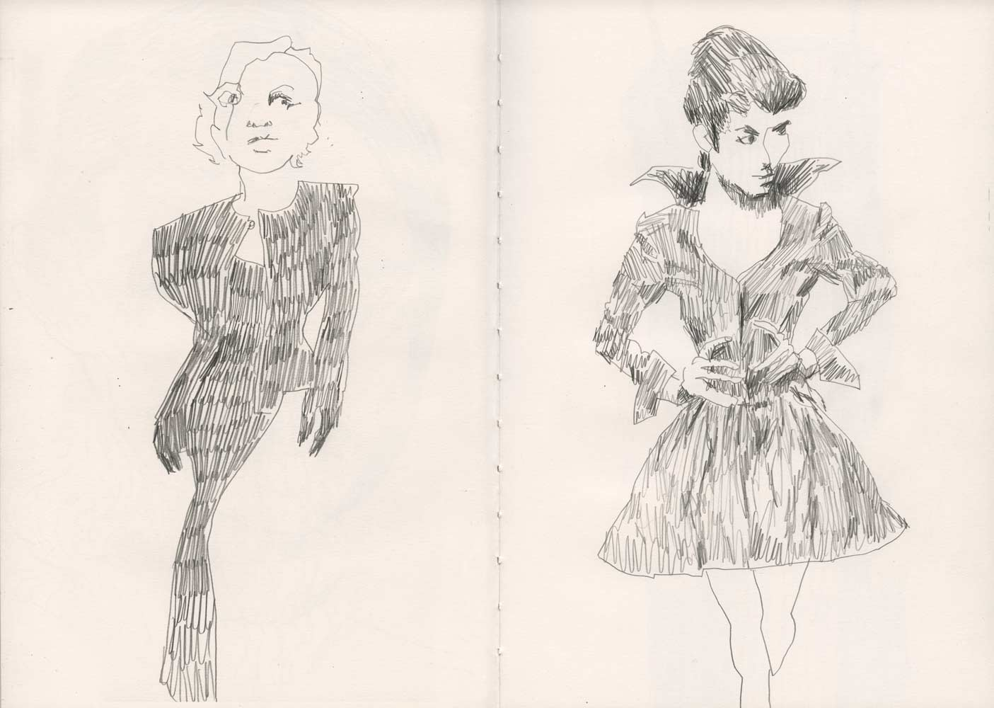 Sketchbook 03   Line Drawings  Mixed Media Sketches and Studies     Pencil drawings  anti fashion