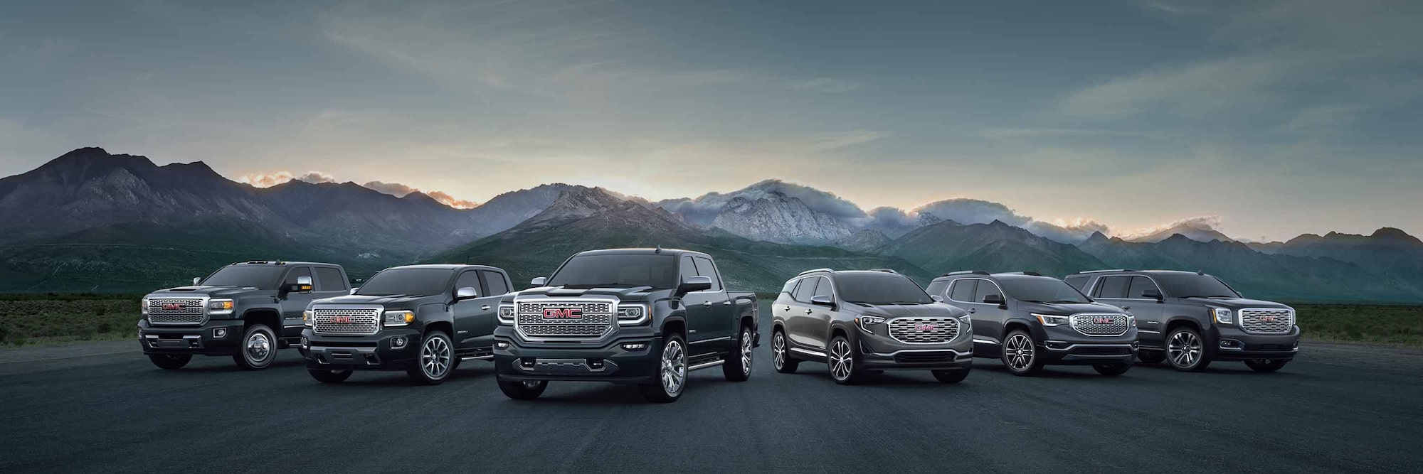 Trucks  SUVs  Crossovers    Vans   2018 GMC Lineup Explore the 2018 GMC Acadia mid size SUV