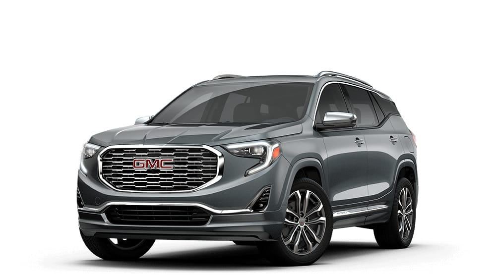 Download a 2018 GMC Brochure   GMC Jellybean image of the 2018 GMC Terrain Denali small luxury SUV