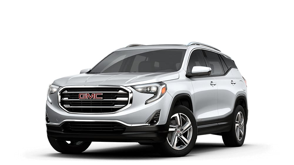 Small  Mid Size   Full Size SUVs   GMC 2018 Terrain in quicksilver metallic