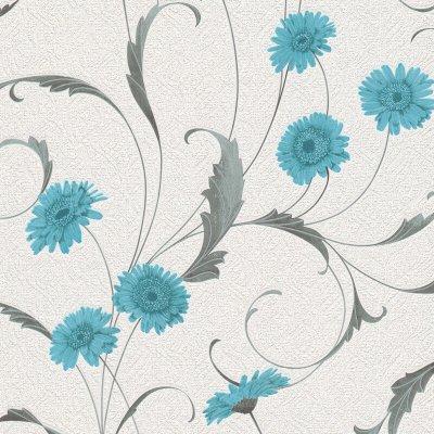 Erismann Polynesia Floral Teal/Grey Glitter Wallpaper - 9773-18   eBay