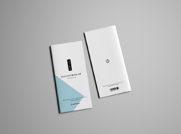 Free   Premium Brochure Mockups   Collection 2 Vertical Brochure Mockup