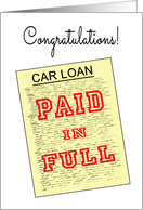 Congratulations on Paid off Loan Cards from Greeting Card Universe