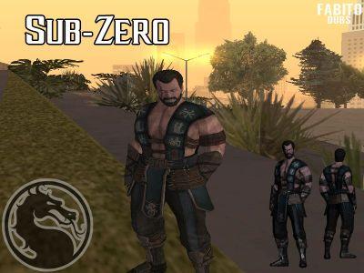 GTA San Andreas Sub-Zero Skin Mortal Kombat X Mod - GTAinside.com