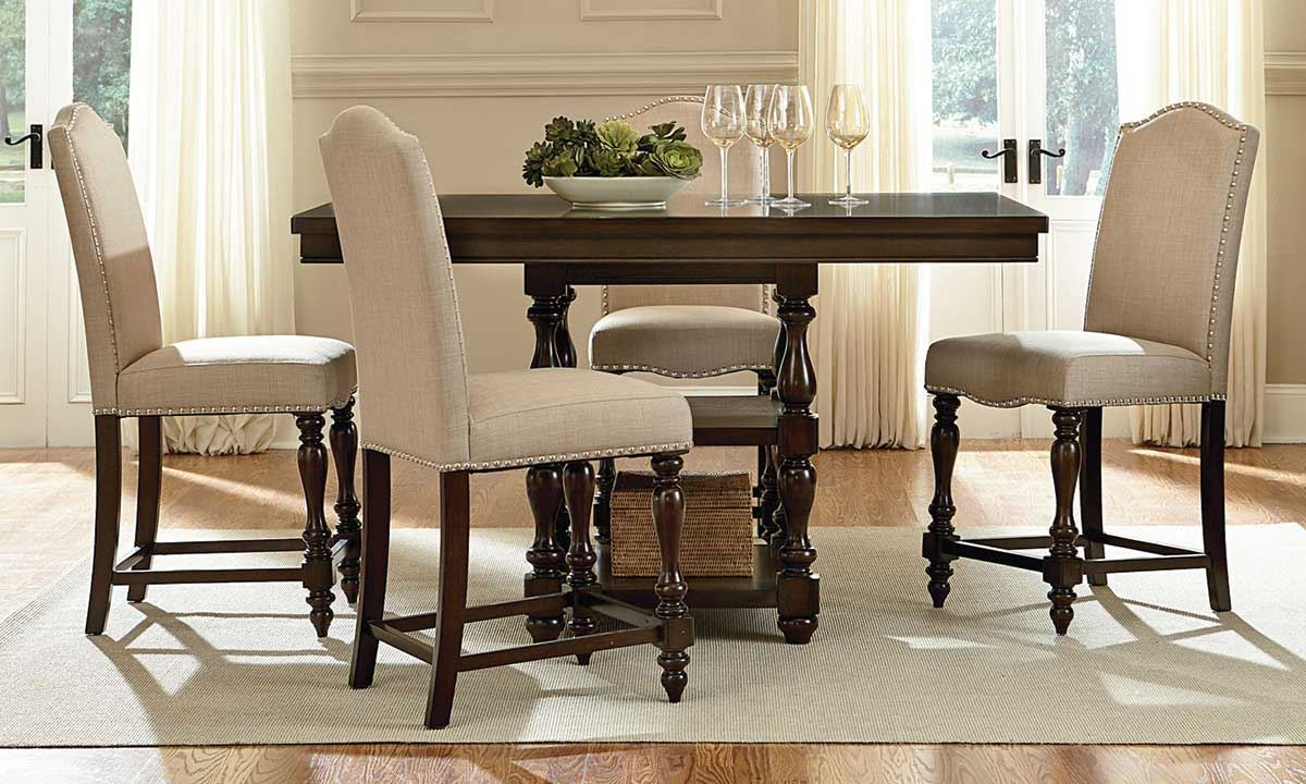 dining room furniture set mcgregor counter height classic counter height kitchen chairs Picture of McGregor Counter Height Dining Set