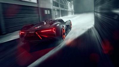 2019 Lamborghini Terzo Millennio Rear 5K Wallpaper | HD Car Wallpapers | ID #10578